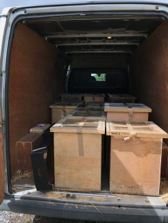 Boxes in the van